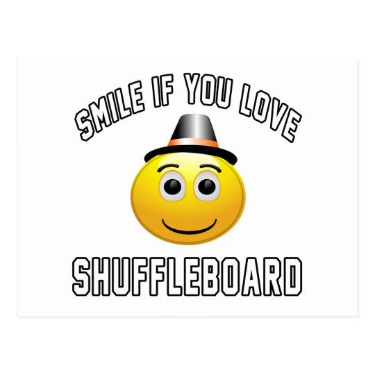 Smile if you love Shuffleboard. Postcard