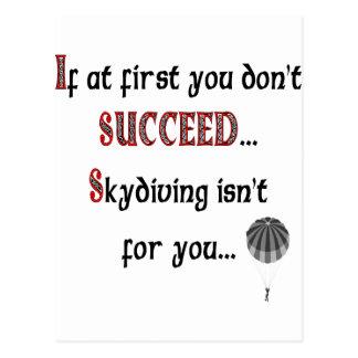 Smile if you love Skydiving Postcard