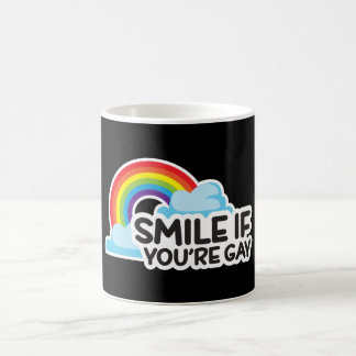 Smile If You're Gay Rainbow LGBT Pride Coffee Mug