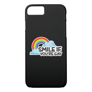 Smile if you're Gay Rainbow LGBT Pride iPhone 7 Case
