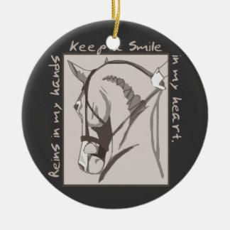 Smile In My Heart Ceramic Ornament