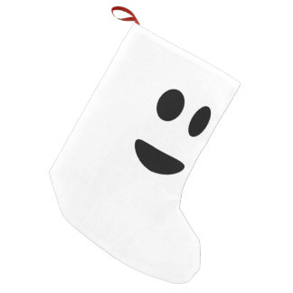 Smile in the face small christmas stocking