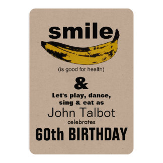 Smile is good - 60th Birthday Party Invitation