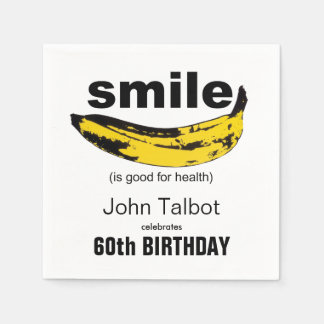 Smile is good 60th Birthday Party Paper Napkin