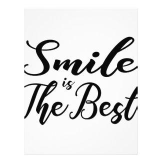 Smile is the best letterhead