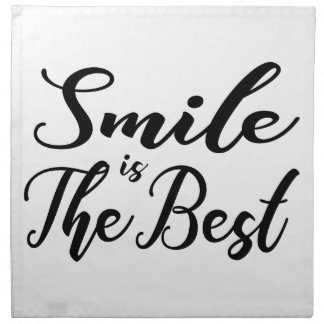 Smile is the best napkin