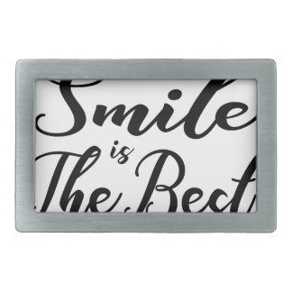 Smile is the best rectangular belt buckle