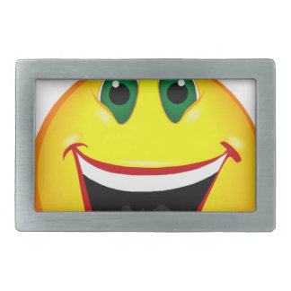 Smile! It's Easier than Frowning Rectangular Belt Buckle