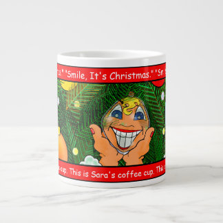 Smile, It's Christmas Large Coffee Mug