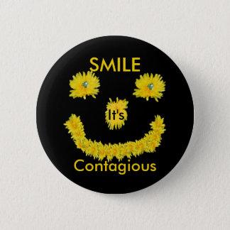 Smile it's Contagious Dandelion 2 Inch Round Button