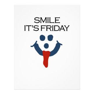 Smile It's Friday Flyer Design