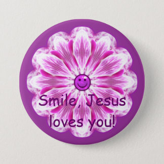 Smile, Jesus loves you! 3 Inch Round Button
