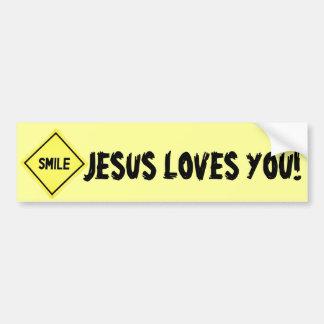 Smile, Jesus Loves You Classic Bumper Sticker