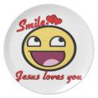 SMILE JESUS LOVES YOU PLATE