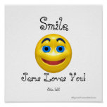 Smile Jesus Loves You Smiley Poster
