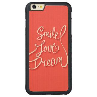 Smile Love Dream Carved® Maple iPhone 6 Plus Bumper Case