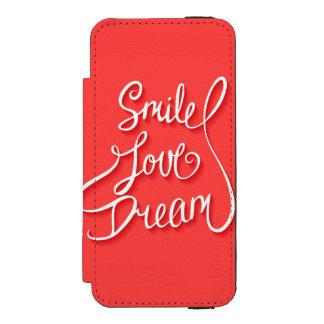 Smile Love Dream Incipio Watson™ iPhone 5 Wallet Case
