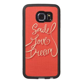 Smile Love Dream Wood Phone Case