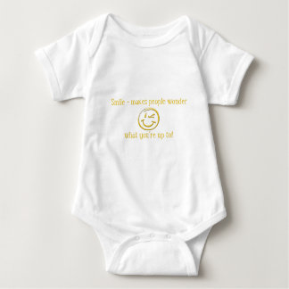 Smile - makes people wonder baby bodysuit
