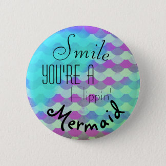 Smile - Mermaid 2 Inch Round Button