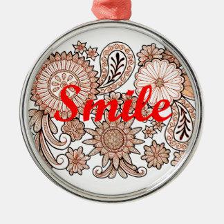 Smile Metal Ornament