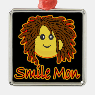 Smile Mon Fire Rasta Smiley Ornament