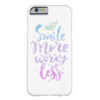 Smile More Worry Less iPhone Case