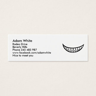 Smile mouth mini business card