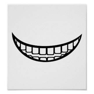 Smile mouth poster