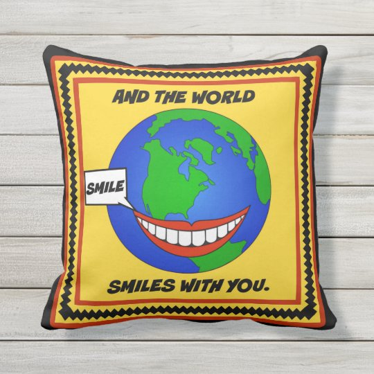 Smile Outdoor Pillow