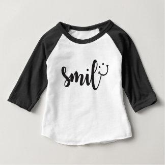 Smile Panda 3/4 Sleeve Baby T-Shirt