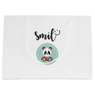 Smile Panda Gift Bag - Large Glossy