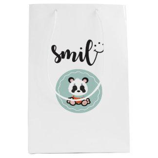 Smile Panda Gift Bag - Medium Glossy