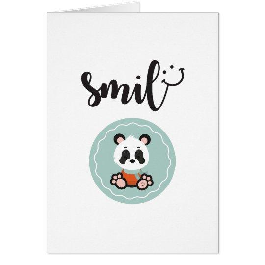 Smile Panda Greeting Card