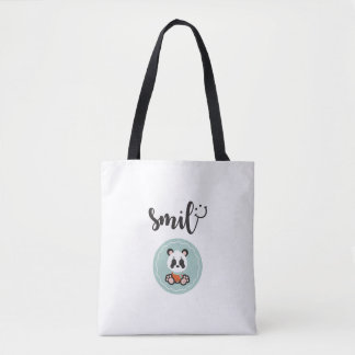 Smile Panda Medium Tote Bag