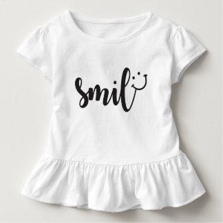 Smile Panda Toddler Ruffle Tee