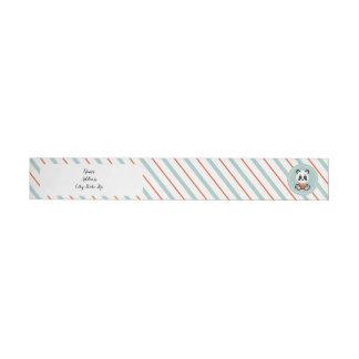 Smile Panda Wrap Around Return Address Labels