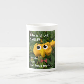 """Smile"" Pinto Peanut Plant Inspiration Tea Cup"