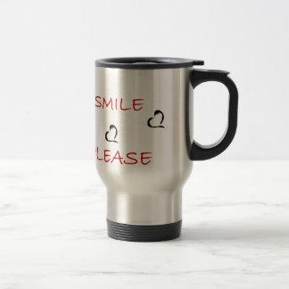 smile please travel mug