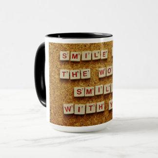 Smile quotation coffee mug
