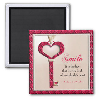 Smile Quote Motivational Magnet