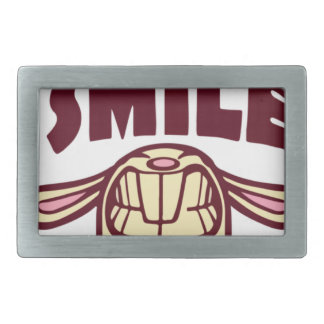 Smile Rectangular Belt Buckle