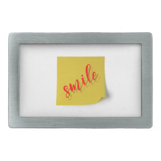 smile rectangular belt buckles