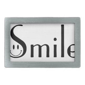 Smile Rectangular Belt Buckles