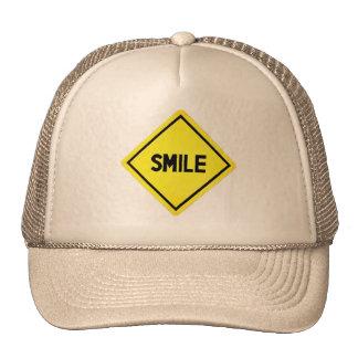 Smile Road Sign Trucker Hat