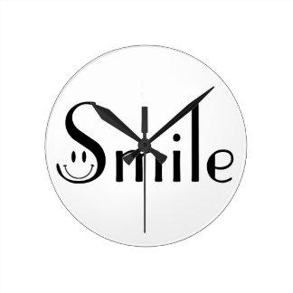Smile Round Clock