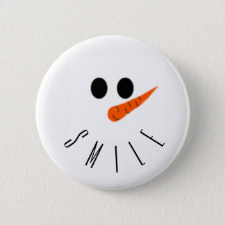 smile! Snowman 2 Inch Round Button