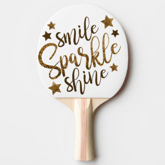 Smile,Sparkle and Shine Ping Pong Paddles