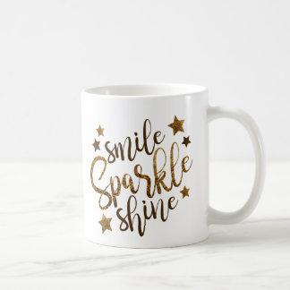 Smile, Sparkle, Shine Inspirational Coffee Mug