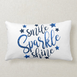 SMILE SPARKLE SHINE LUMBAR PILLOW